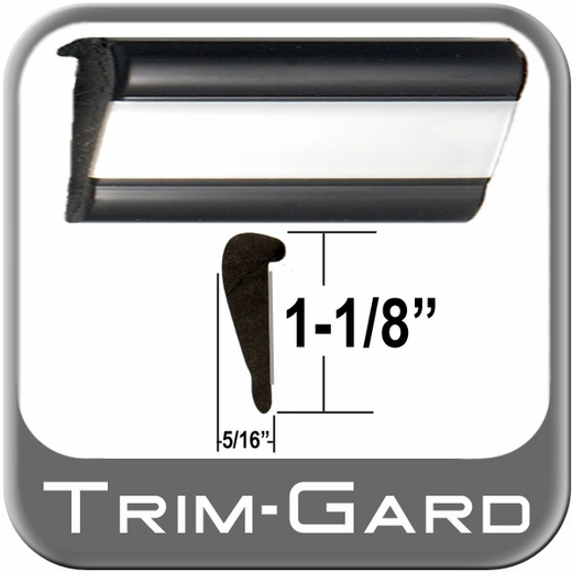 "1-1/8"" Wide Black-Chrome Wheel Molding Trim Sold in 20 Foot Rolls Trim Gard® #WXL01-20"