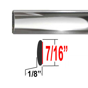 "7/16"" Wide Chrome Body Side Molding Sold by the Foot, Cowles® # 37-751-01"