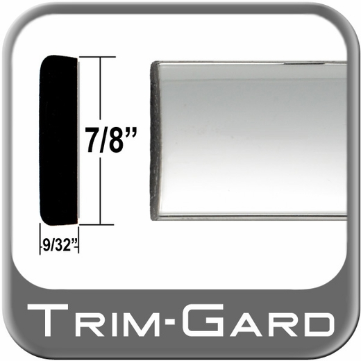 "7/8"" Wide Chrome Body Side Molding Sold by the Foot, Trim Gard® # PP01-01"