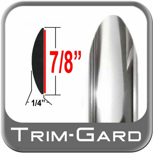 "7/8"" Wide Body Side Molding Chrome w/all 4 Tapered Ends Two 8' Strips Trim Gard® #BT01DC-16"