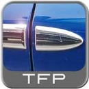 Chrome Body Side Molding w/Formed End Tips Sets of 2 TFP® #10XX2UBI