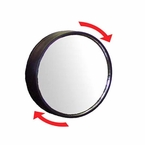 "CIPA 2"" Round Blind Spot Mirror 2"" Round, Black Frame Adjustable 360 degrees Stick on Convex #49104"