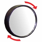 "CIPA 3-3/4"" Round Blind Spot Mirror 3-3/4"" Round, Black Frame Adjustable 360 degrees Stick on Convex #49304"