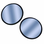 "CIPA Blue Blind Spot Mirror Blue Tinted Lens 2"" Round, Black Backing Stick on, Convex #49111"