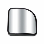 "CIPA Corner Wedge Blind Spot Mirror 2"" x 2"" Corner Wedge Black Frame Stick on Convex #49404"