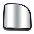 "CIPA Corner Wedge Blind Spot Mirror 3-1/4"" x 3-1/4"" Corner Wedge Black Frame Stick on Convex #49403"