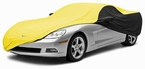 CoverKing Custom Car Covers 2-Tone Black Sides w/Yellow Center Stormproof Material #CVC4SP293