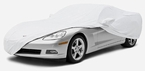 CoverKing Custom Car Covers Pearl White Color Stretch Satin Material #CVC3SSP1