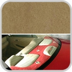 CoverKing Rear Cover Beige Color Poly Carpet Material #CRDP12