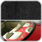 CoverKing Rear Cover Black Color Poly Carpet Material #CRDP1