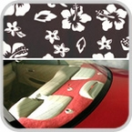 CoverKing Rear Cover Black, Hawaiian Design Velour Material #CRDA1