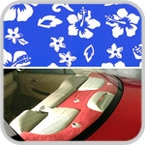 CoverKing Rear Cover Blue, Hawaiian Design Velour Material #CRDA8