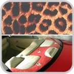 CoverKing Rear Cover Cheetah Print Design Velour Material #CRDA9