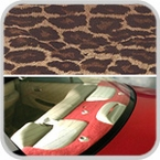 CoverKing Rear Cover Leopard Print Design Velour Material #CRDA21