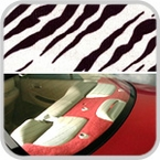 CoverKing Rear Cover Zebra Print Design Velour Material #CRDA13