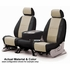 CoverKing Tailored Seatcovers 2-Tone Black Sides w/Beige Inlay Leatherette Material 1-Row Set #CSC1A0