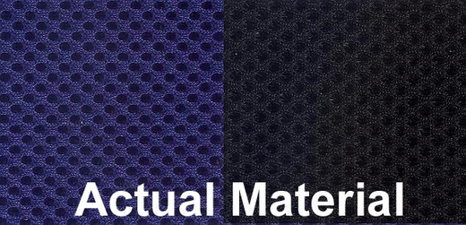 CoverKing Tailored Seatcovers 2-Tone Black Sides w/Blue Inlay Spacer Mesh Material 1-Row Set #CSC2S8