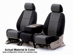 CoverKing Tailored Seatcovers 2-Tone Black Sides w/Charcoal Inlay Genuine CR Grade Neoprene 1-Row Set #CSCF12
