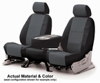 CoverKing Tailored Seatcovers 2-Tone Black Sides w/Charcoal Inlay Leatherette Material 1-Row Set #CSC1A9