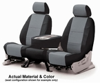 CoverKing Tailored Seatcovers 2-Tone Black Sides w/Gray Inlay Leatherette Material 1-Row Set #CSC1A8