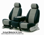 CoverKing Tailored Seatcovers 2-Tone Black Sides w/Grey Inlay NeoSupreme Material 1-Row Set #CSC2A3