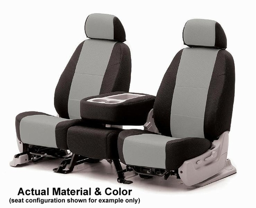 CoverKing Tailored Seatcovers 2-Tone Black Sides w/Grey Inlay Spacer Mesh Material 1-Row Set #CSC2S3