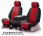 CoverKing Tailored Seatcovers 2-Tone Black Sides w/Red Inlay Leatherette Material 1-Row Set #CSC1A6