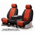 CoverKing Tailored Seatcovers 2-Tone Black Sides w/Red Inlay NeoSupreme Material 1-Row Set #CSC2A7