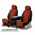 CoverKing Tailored Seatcovers 2-Tone Black Sides w/Red Inlay Spacer Mesh Material 1-Row Set #CSC2S7