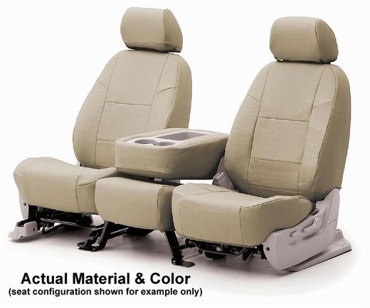 CoverKing Tailored Seatcovers Beige Color Genuine Leather Material 1-Row Set #CSC1L5