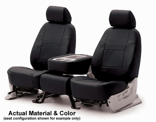 CoverKing Tailored Seatcovers Black Color Genuine Leather Material 1-Row Set #CSC1L1