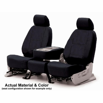 CoverKing Tailored Seatcovers Black Color Poly Cotton Material 1-Row Set #CSC1P1