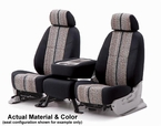 CoverKing Tailored Seatcovers Black Color Saddleblanket Inlay Material w/NeoSupreme Sides 1-Row Set #CSC1D1