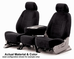 CoverKing Tailored Seatcovers Black Color Velour Material 1-Row Set #CSCV1