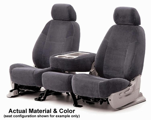 CoverKing Tailored Seatcovers Charcoal Color Velour Material 1-Row Set #CSCV2