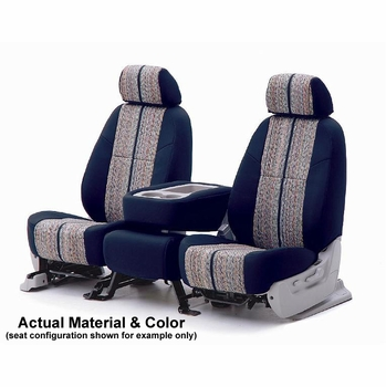 CoverKing Tailored Seatcovers Dark Blue Color Saddleblanket Inlay Material w/NeoSupreme Sides 1-Row Set #CSC1D8