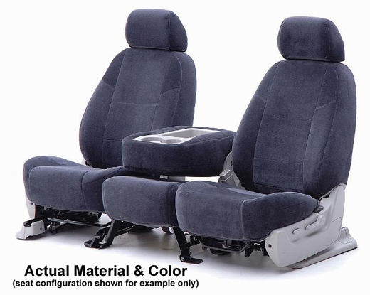 CoverKing Tailored Seatcovers Dark Blue Color Velour Material 1-Row Set #CSCV8