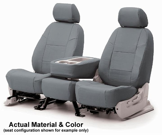 CoverKing Tailored Seatcovers Grey Color Genuine Leather Material 1-Row Set #CSC1L3