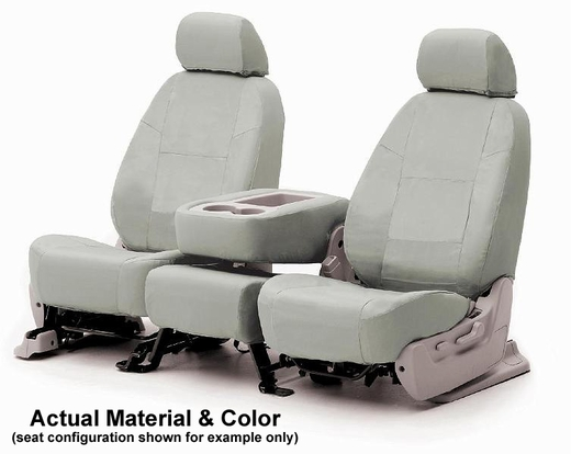 CoverKing Tailored Seatcovers Grey Color Poly Cotton Material 1-Row Set #CSC1P3