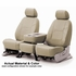 CoverKing Tailored Seatcovers Solid Beige Leatherette Material 1-Row Set #CSC1A4