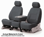 CoverKing Tailored Seatcovers Solid Charcoal Leatherette Material 1-Row Set #CSC1A2