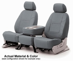 CoverKing Tailored Seatcovers Solid Gray Leatherette Material 1-Row Set #CSC1A3
