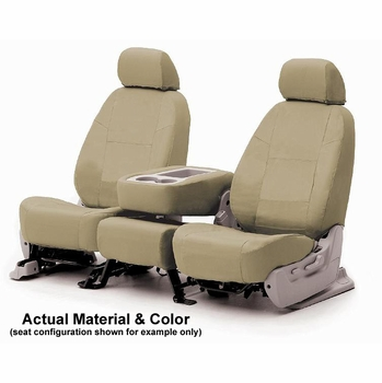 CoverKing Tailored Seatcovers Tan Color Poly Cotton Material 1-Row Set #CSC1P5