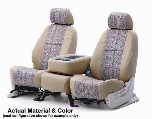 CoverKing Tailored Seatcovers Tan Color Saddleblanket Inlay Material w/NeoSupreme Sides 1-Row Set #CSC1D5