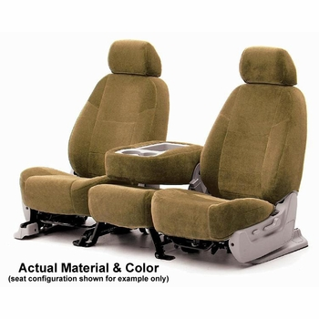 CoverKing Tailored Seatcovers Tan Color Velour Material 1-Row Set #CSCV5
