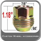"7/16"" GM Lug Nut"