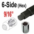 "Custom Wheel Accessories® Lug Nut Key 9/16"" Hex (Male) Sold Individually #6664XL"