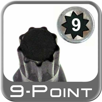 Custom Wheel Accessories® Lug Nut Key Small 9-Point (Male) Sold Individually #6564