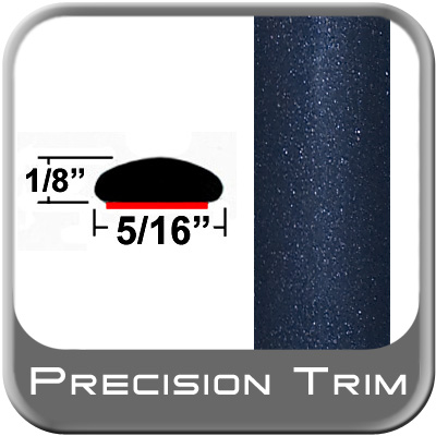 "5/16"" Wide Blue (Dark) Wheel Molding Trim (PT64) Sold by the Foot Precision Trim® #24200-64-01"