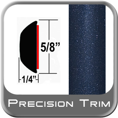 "5/8"" Wide Blue (Dark) Wheel Molding Trim (PT64) Sold by the Foot Precision Trim® #37130-64-01"